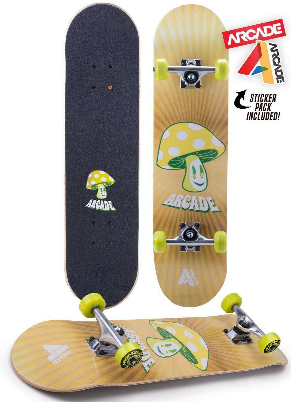 ARCADE Pro Skateboard 31 Standard Mushroom Design Pro