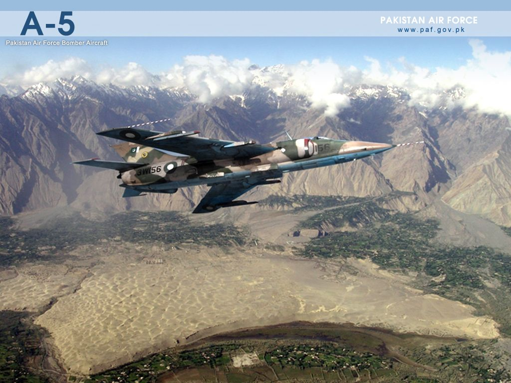 Pakistan Air Force A5 Bomber Air Craft Wallpaper Air force