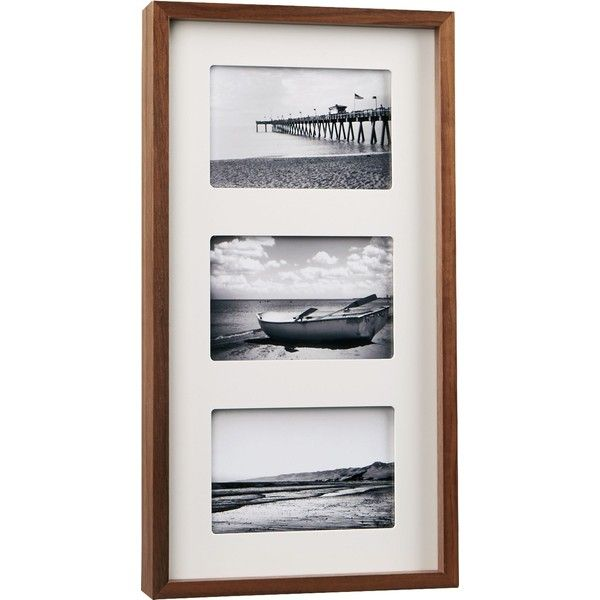 CB2 Walnut Multi 4x6 Box Picture Frame (653.845 IDR) ❤ liked on ...