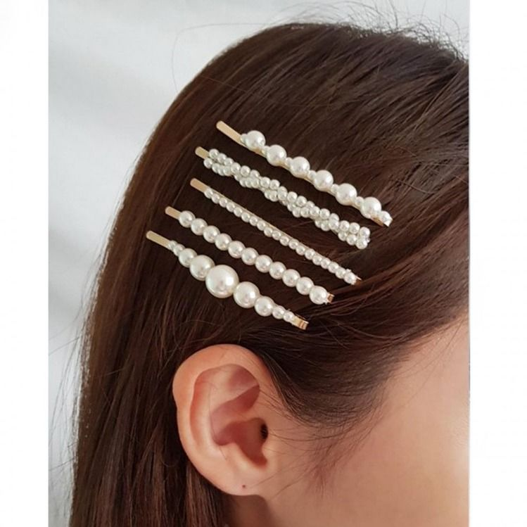 Short Hairstyle For Join Wedding: Join The Hair Accessories Trend With Our Pearl Hair Slides