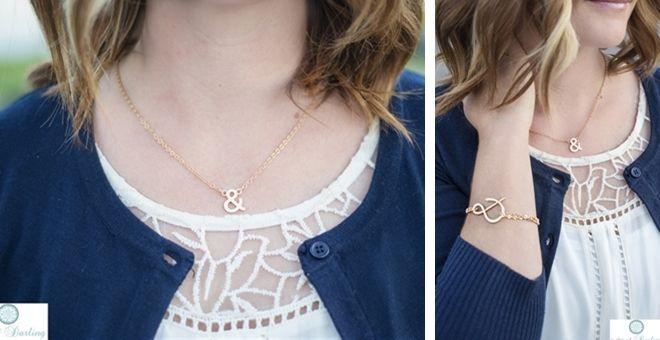 Designer Inspired Ampersand Necklace and Ampersand Bracelet on Jane.com for 5.99!! Three days only!
