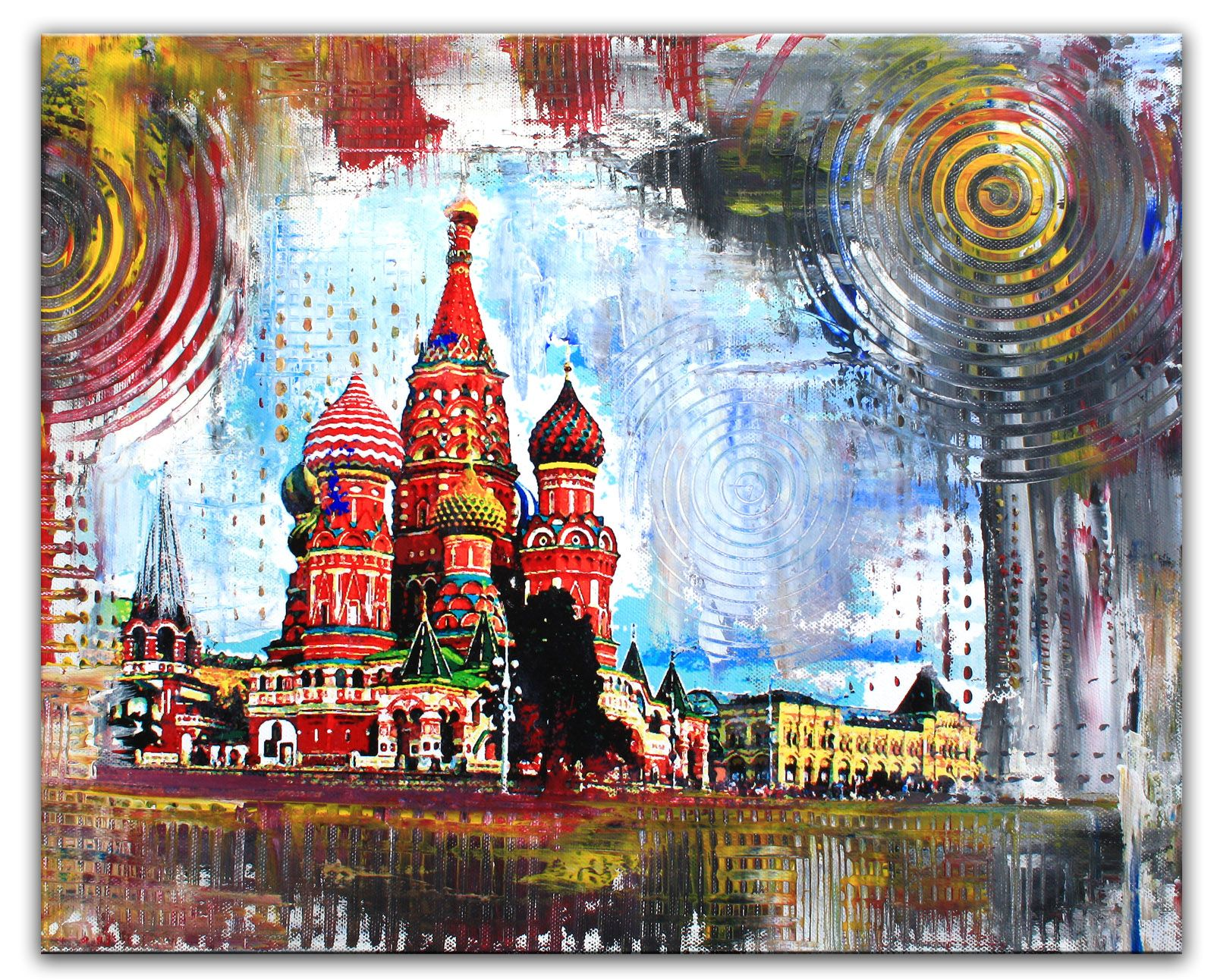 Moskau Basilika kathedrale städtebild leinwandbild wandbilder kaufen ...