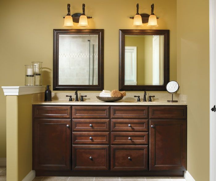 30 best bathroom cabinet ideas cherry cabinets for Bathroom decorating ideas cherry cabinets