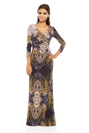 dcd9297d8 Vestido Longo Neoprene Detalhe Cintura Fenda Estampa Onça Cashmere - roupas- vestidos-iorane-