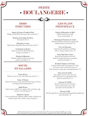 red black french menu template finedining frenchrestaurant