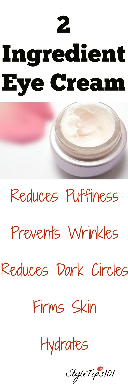 Two Ingredient Eye Cream Skin cream, Healthy skin cream