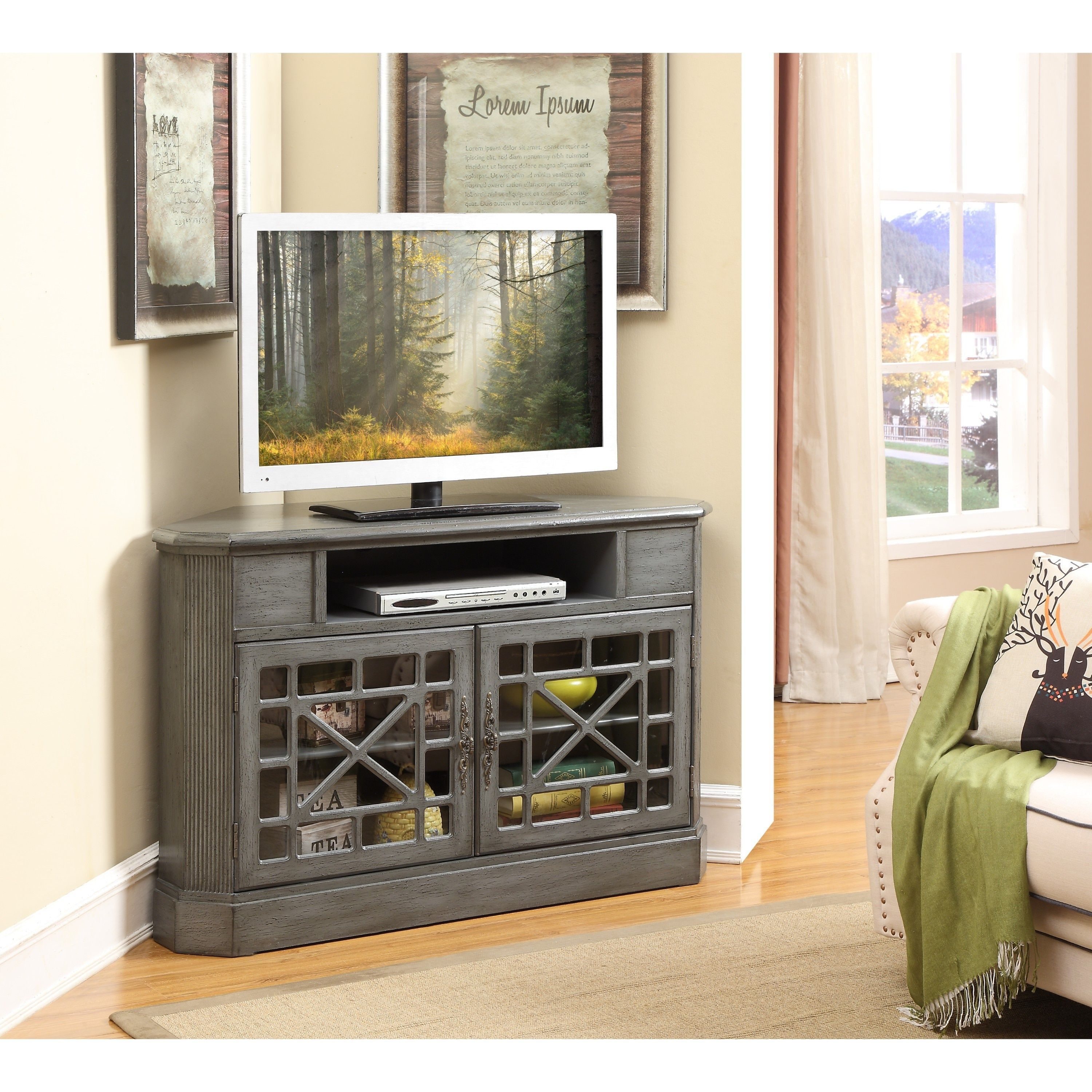 glass distressed fireplace cabinets white with media corner doors black cabinet