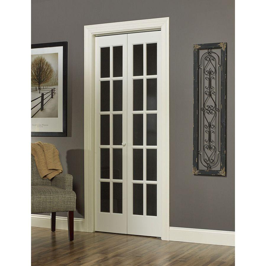 Shop pinecroft solid core 10 lite pine bi fold closet - Solid wood french doors interior ...