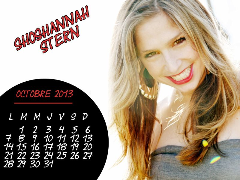 Calendrier Jericho Shoshannah Stern Octobre 2013
