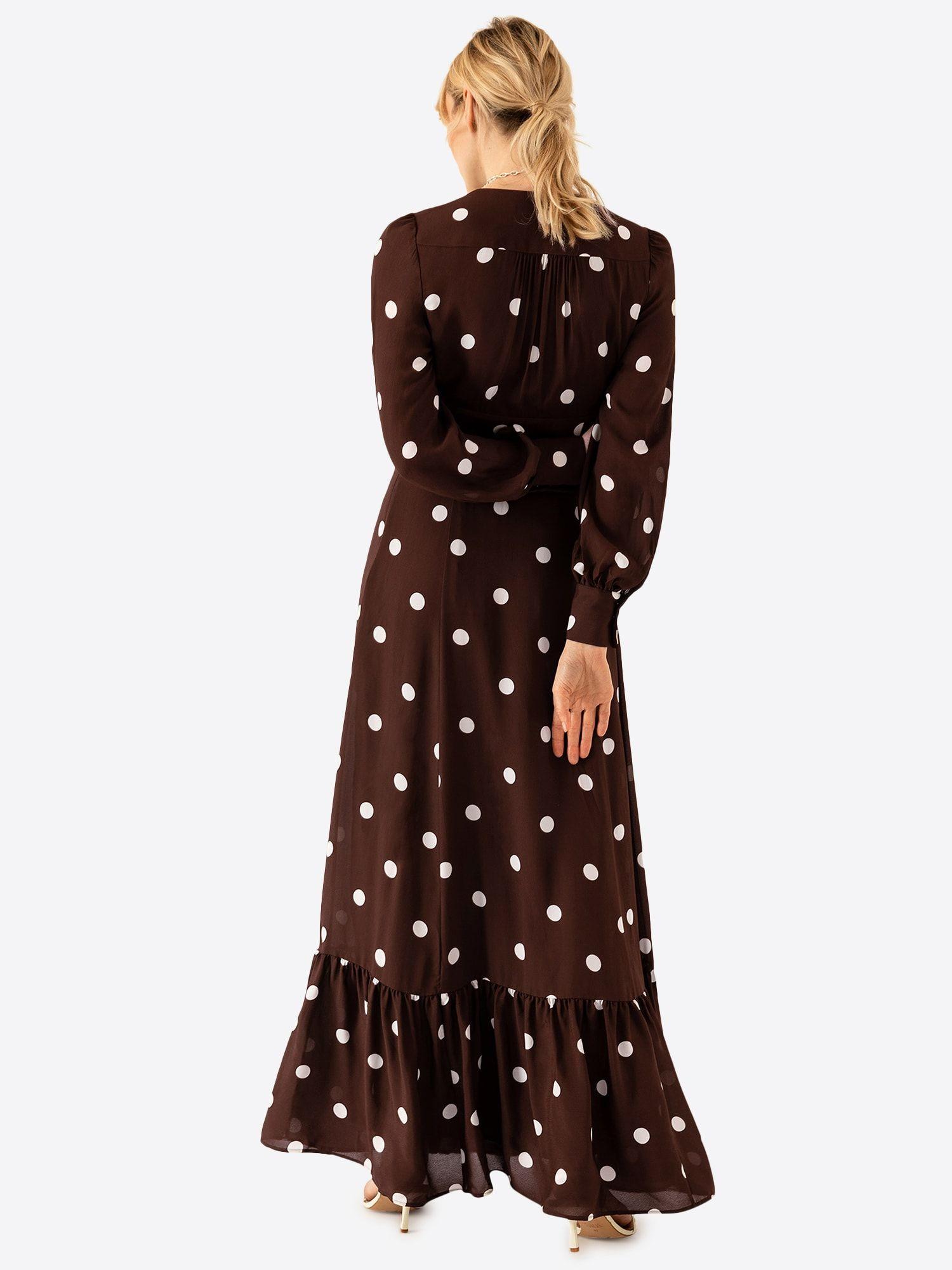 ivy & oak kleid damen, schoko / weiß, größe 46 | kleider