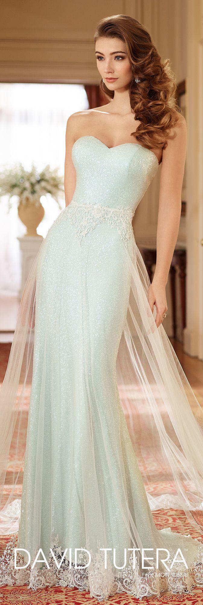 Sequin Tulle Wedding Dress with Detachable Skirt- 217214 Lillian ...