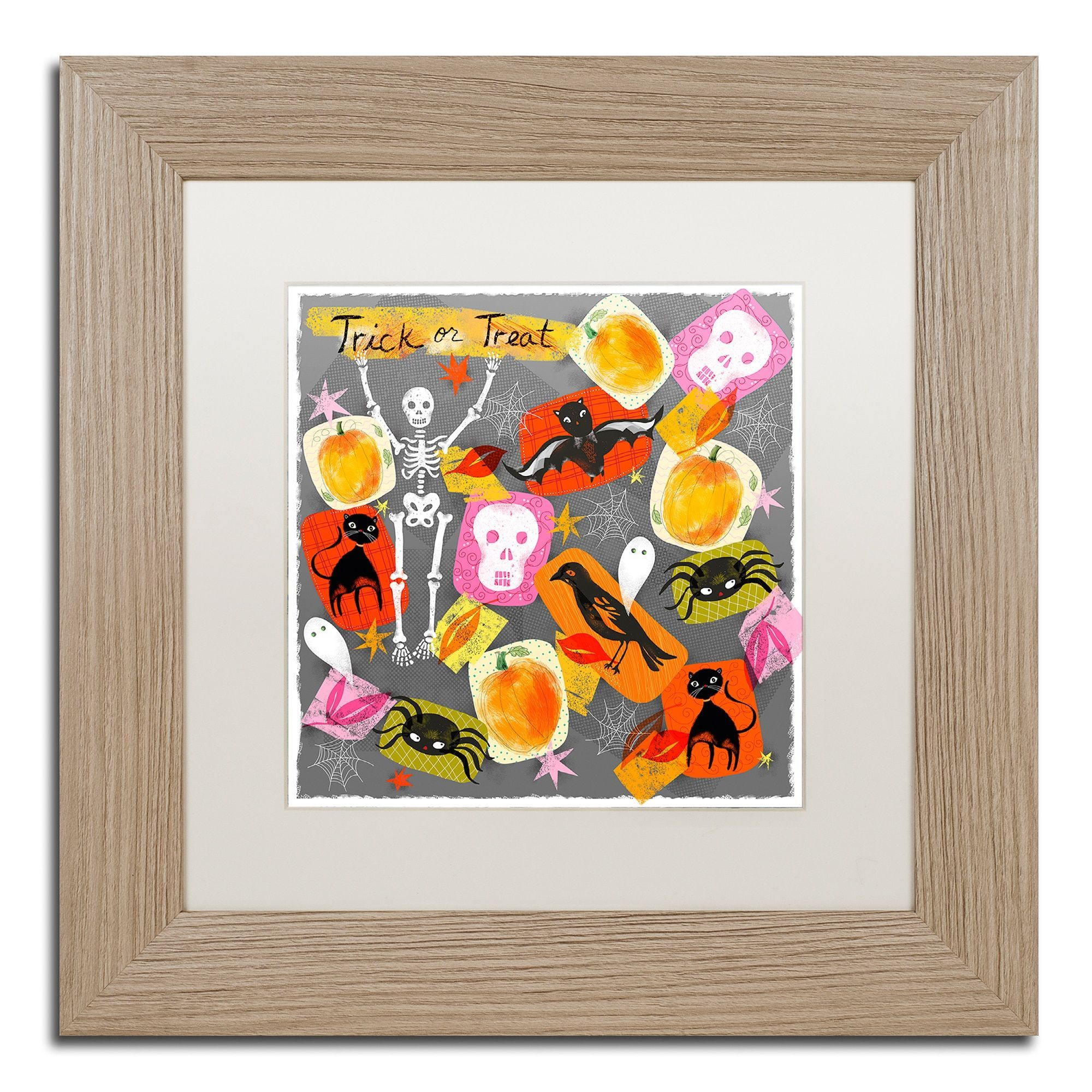 Lisa Powell Braun Trick Or Treat Matted Framed Art Products