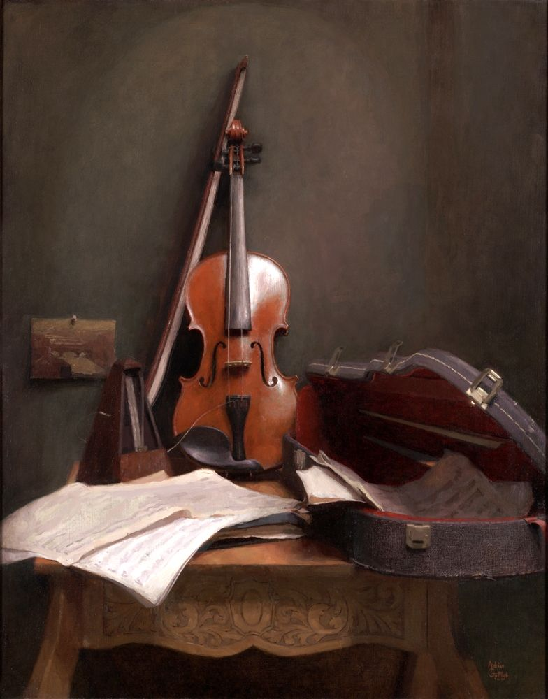 """A violin - this one is all on me, but will be part of my 2012 goals. """"Winter in Largo""""."""