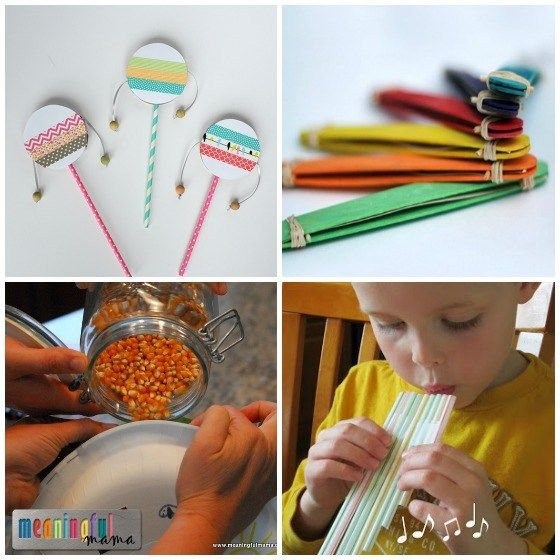 craft ideas for kids-musical instruments