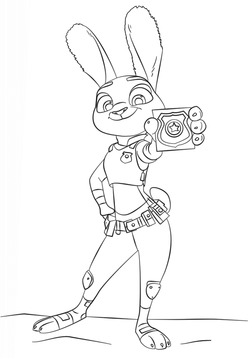 Zootopia Coloring Pages - Worksheet School  Coloriage zootopie