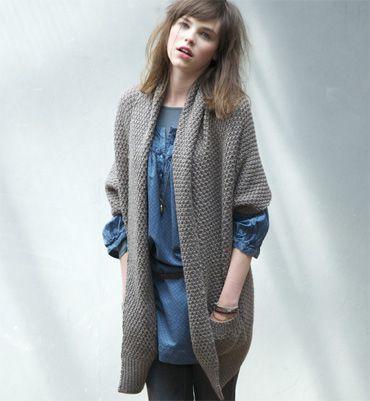 Tricoter une veste longue pour femme