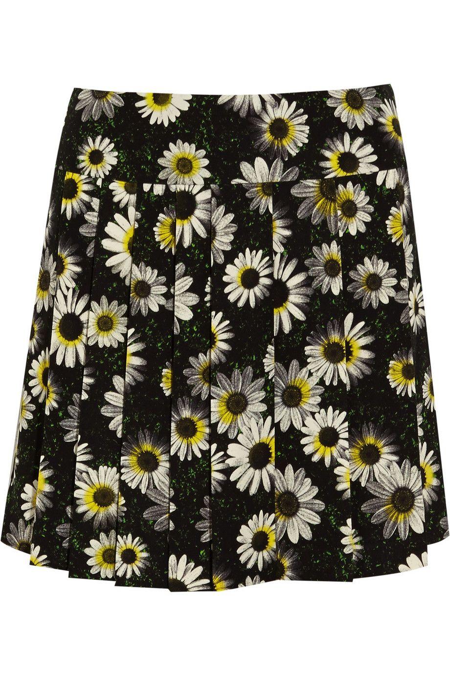 Moschino Cheap and ChicPrinted crepe skirt