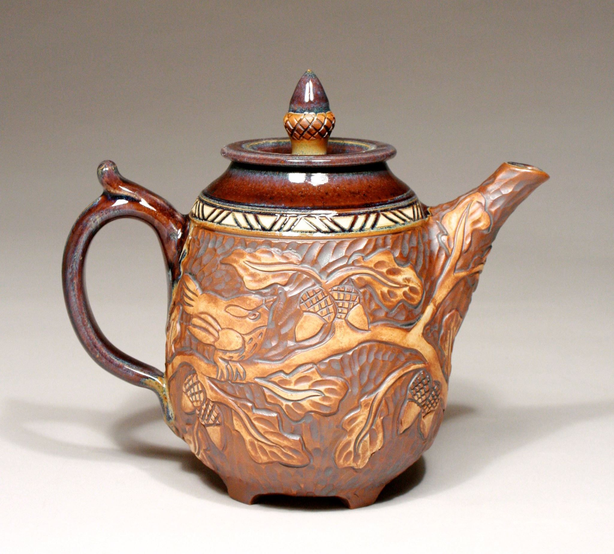 Foxlo Pottery | Fox and Lois Garney | Tea Pot | Amphora Gallery | Cambria, California
