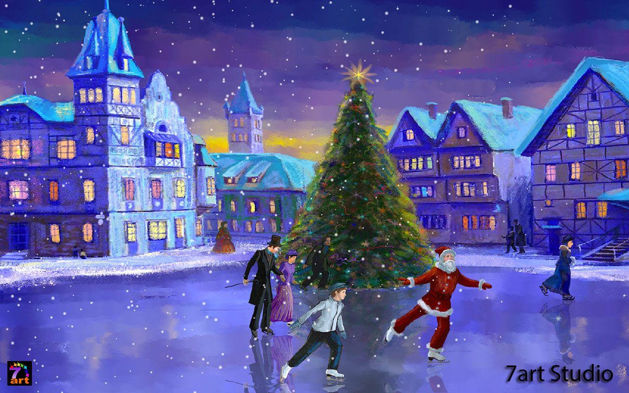 Windows Wallpaper Live Screensaver   Christmas Rink ...