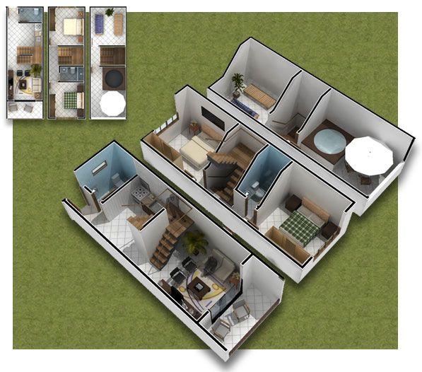 Planos De Casa De 3 Pisos En 3d Casas Pequenas 35m2 Casa De 3 Pisos Casa De Tres Pisos Planos De Casas Chicas