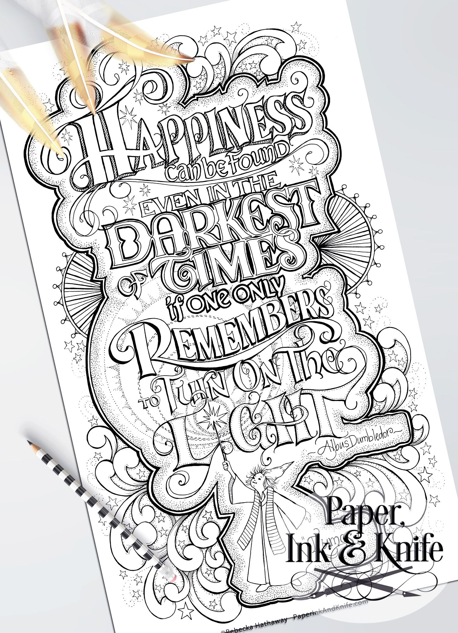 Happiness Can Still Be Found Coloring Page Paper Ink And Knife Harry Potter Coloring Pages Harry Potter Coloring Book Harry Potter Colors