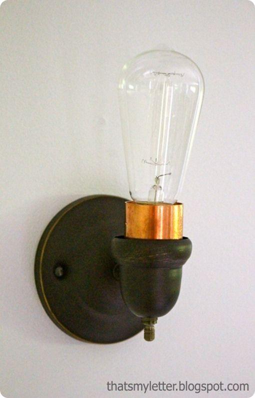 Edison Bulb Sconce For A Vintage Home Sconces Diy Sconces Bulb