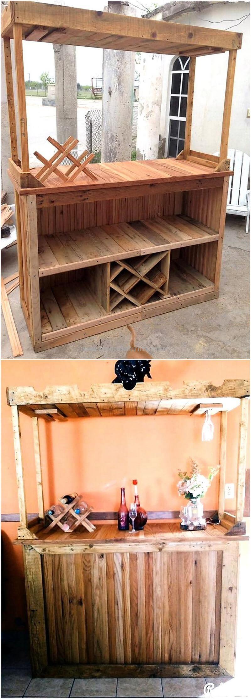 Palettenbar, Palettenholz, Diy Palettenprojekte, Holzprojekte, Gartenbar,  Palettendeck Möbel, Kreative Dinge, Kreativ, Holz