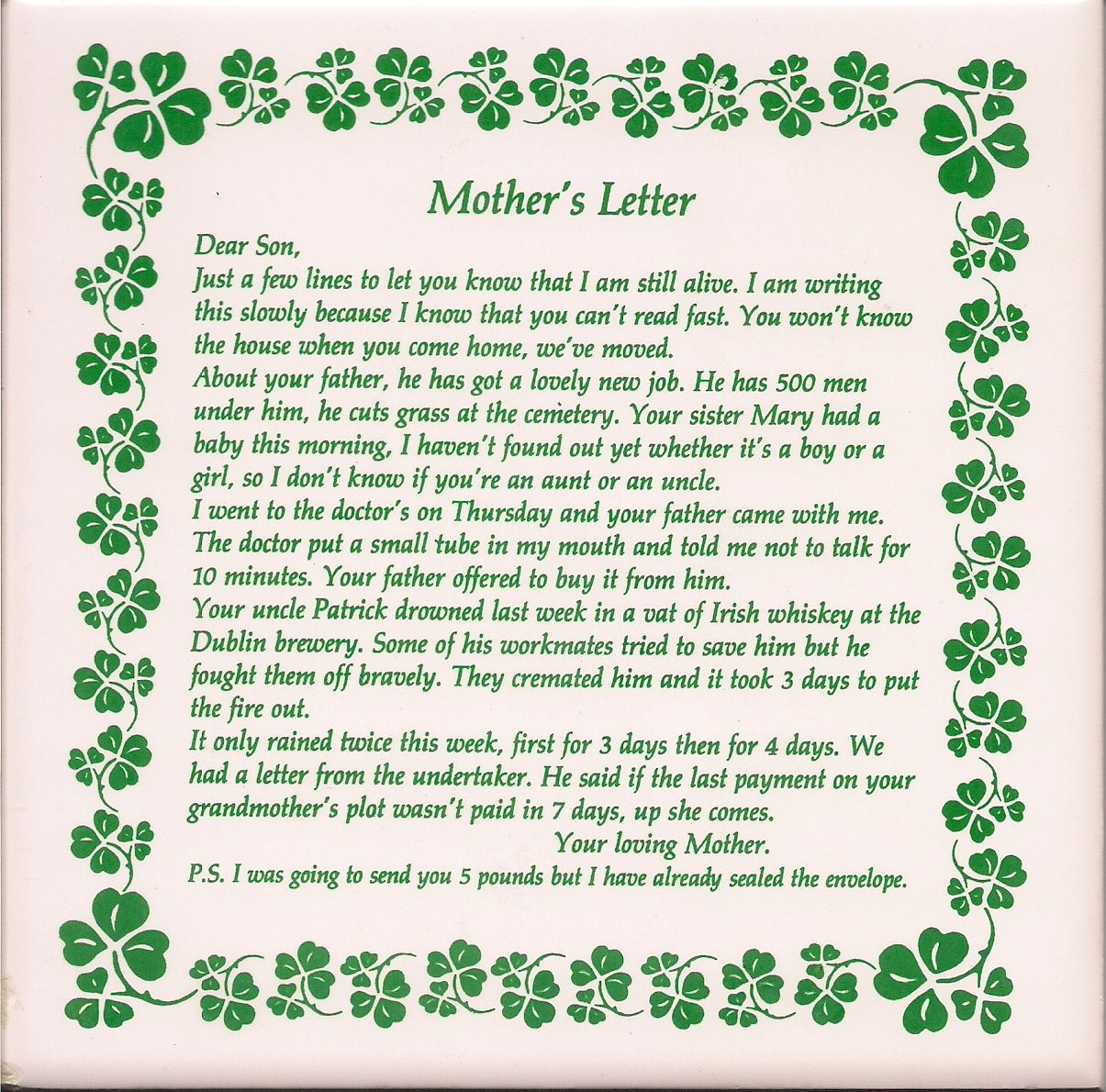 letter to my son from mom an s letter to so celtic 13592 | dd9124d126e19155efed70926aa2ff66