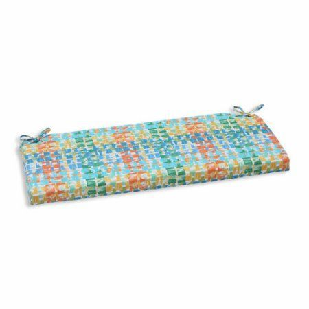 Pillow Perfect Outdoor/ Indoor Quibble Sunsplash Bench Cushion, Blue