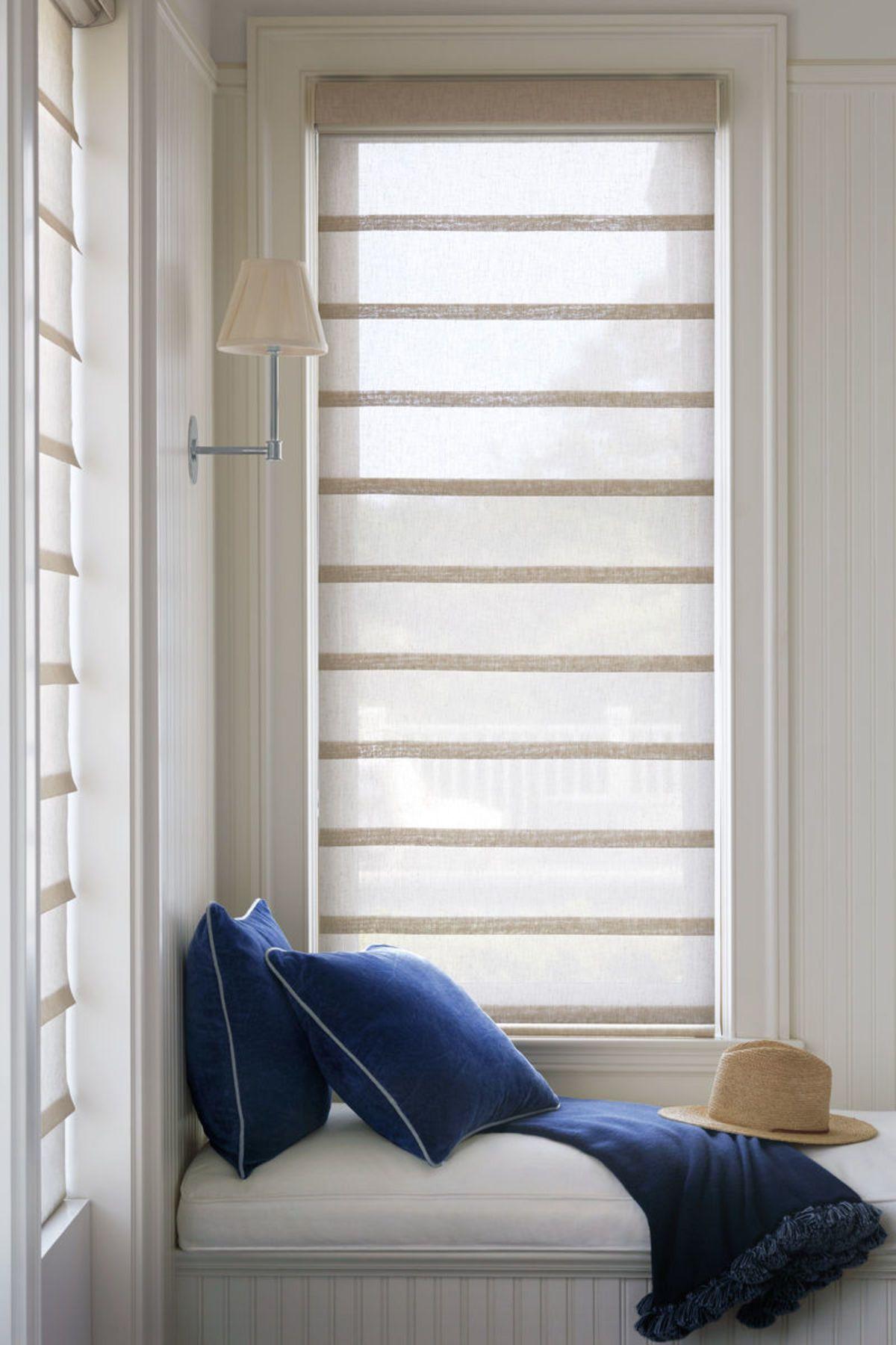 Vignette Modern Roman Shades Modern Roman Shades Living Room Windows Hunter Douglas