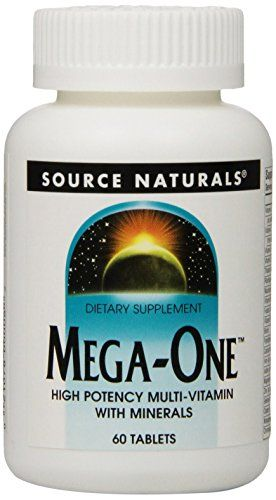 Source Naturals MegaOne HighPotency Multivitamin with Minerals 60 Tablets * You can get more details by clicking on the image. Note: It's an affiliate link to Amazon.