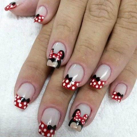 disneynails in 2020  minnie mouse nails disney nails