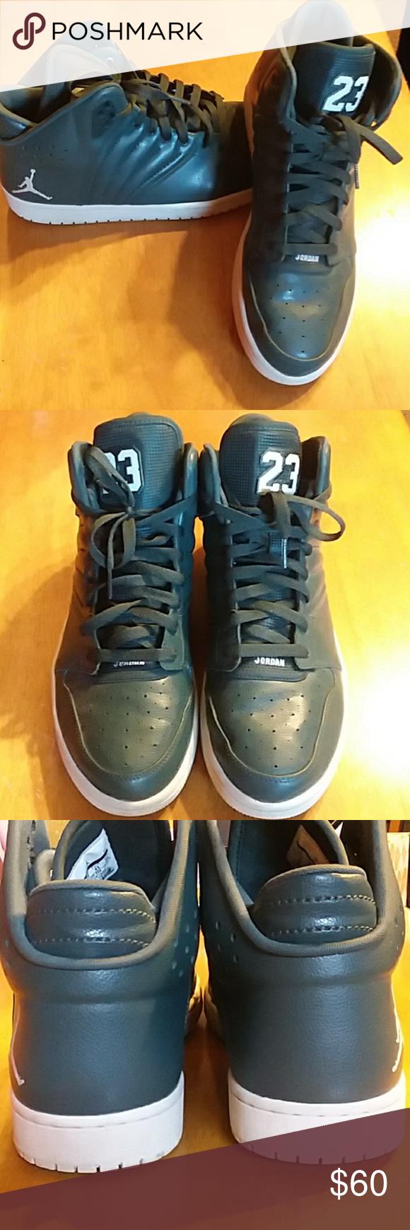 b0cc290b169 Mens Dark Green Jordans Like new Worn handful of times Dark green 23  Jordan s Size 11 Nike Shoes Athletic Shoes