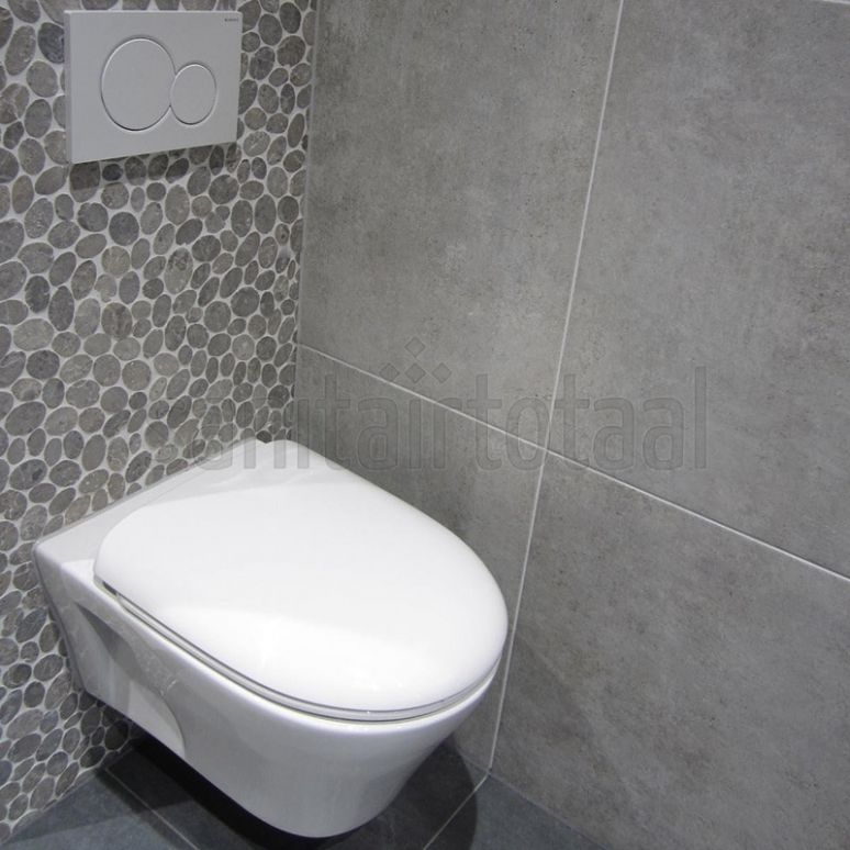 Moza ek tegels tegels badkamer grijs tegelstroken toilet muurstrips toilet badkamer ideeen - Mozaiek ontwerp ...