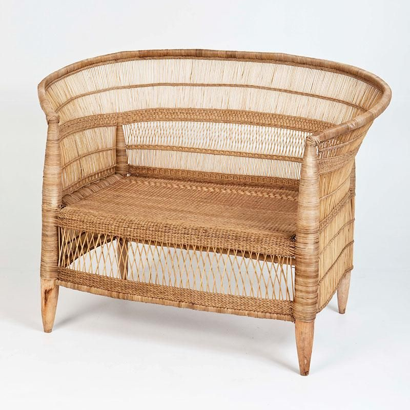Malawi Cane Chair Two Seater Natural Interior Secrets With