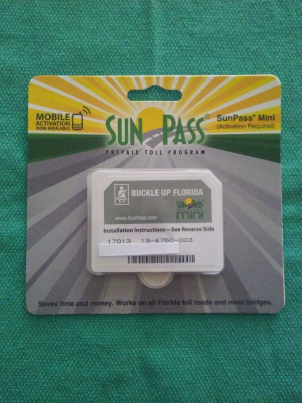 $8 75 - Florida Sunpass Mini Transponder Toll Road, Epass
