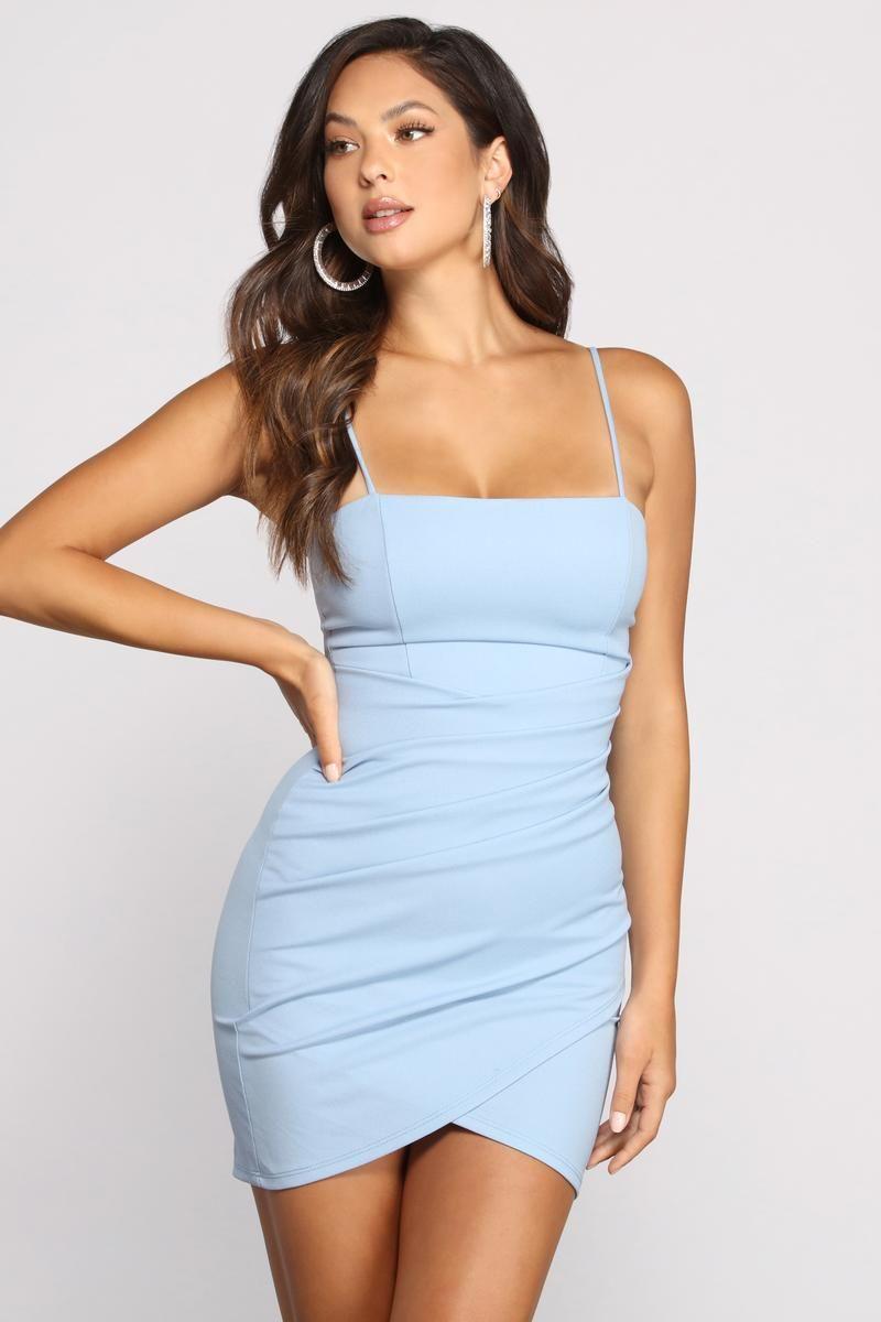 Wrapped In Stylish Satin Mini Dress
