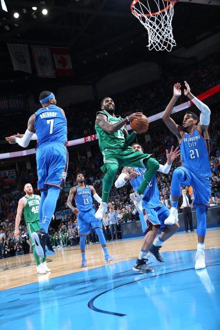 11 3 Crazy How Kyrie Mad A Acrobatic Layup With 3 People On Him Kyriediculous Kyrie Irving Celtics Basketball Highlights Kyrie Irving