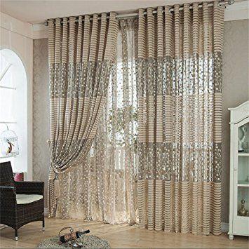 rideaux salon design moderne kolylong 1pc arbre feuille tulle porte fentre rideau panneau drap cantonnires charpe - Rideaux De Salon Moderne