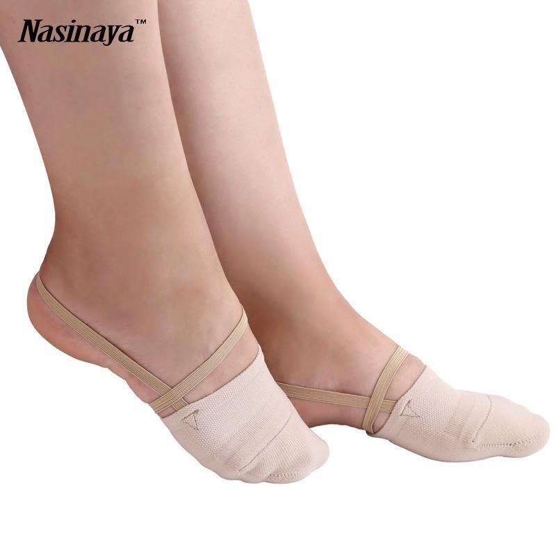 1 Pair Glitter Half Toe Soles Rhythmic Gymnastics Ballet Pointe Dance Shoes