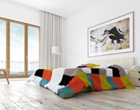 Bedroom in late morning light by Andrei Marin, via Behance