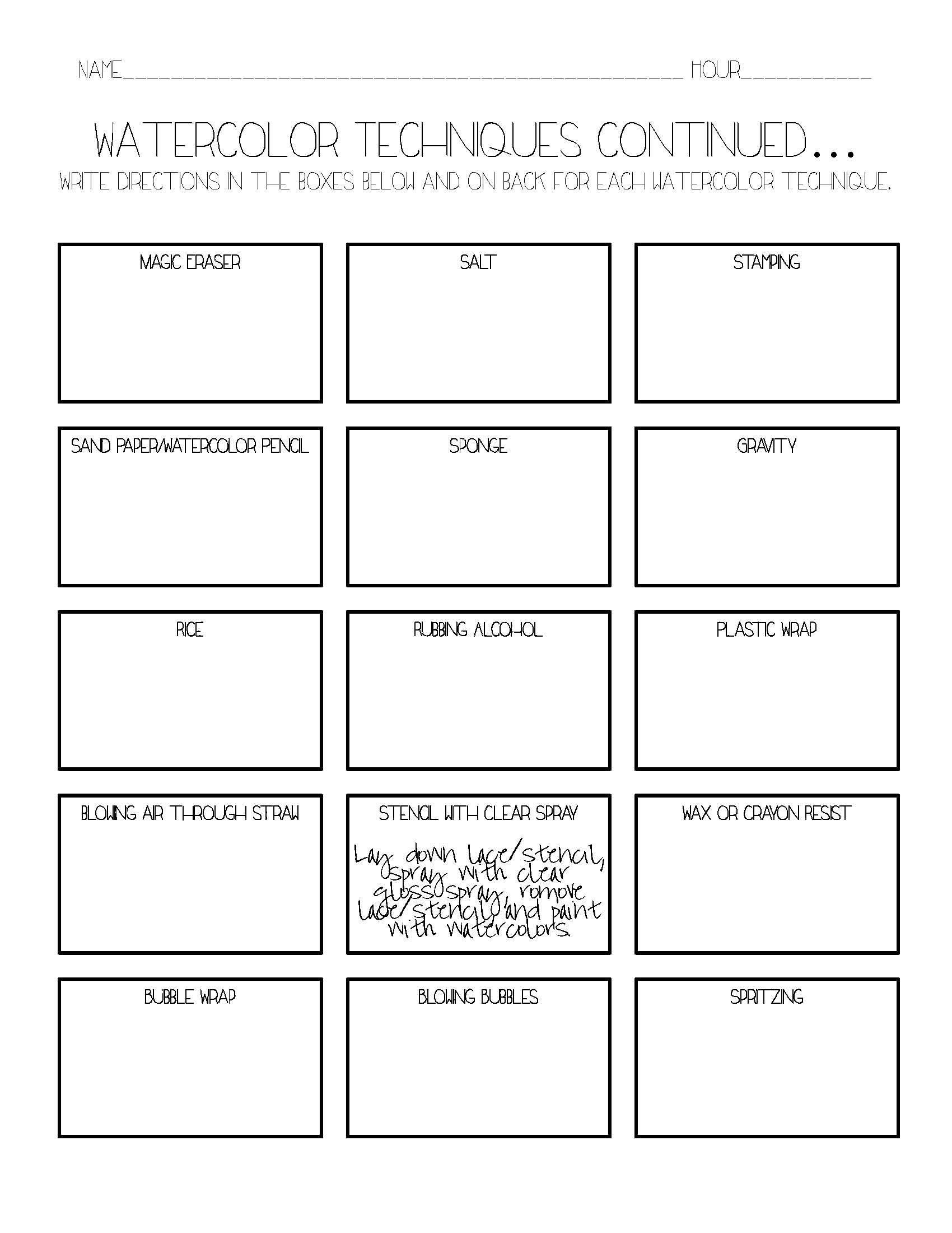Create Experiment Worksheet