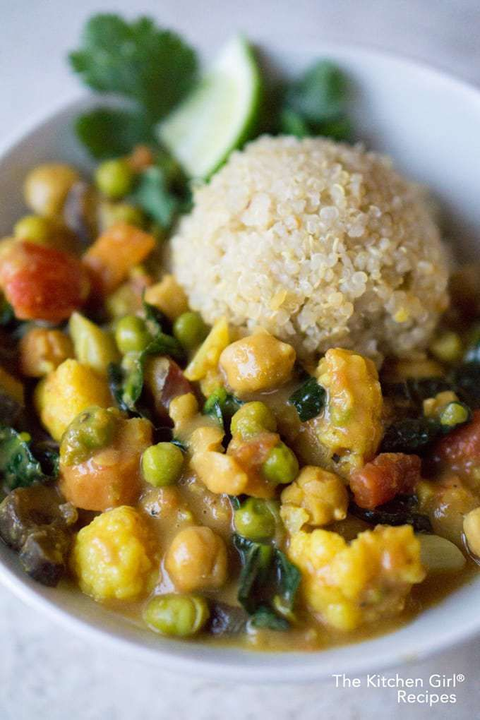 Vegan Thai Coconut Vegetable Curry