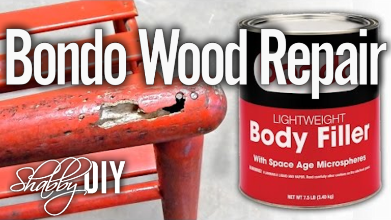 Repair Wood Furniture Using Bondo Filler  Today we are going