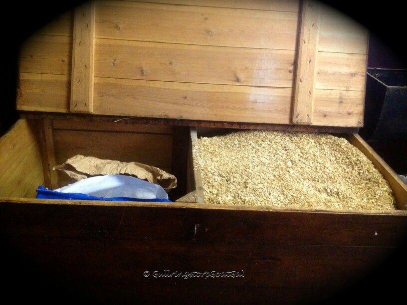 Wood Feed Bin Feed Room Grain Storage Stables Barn