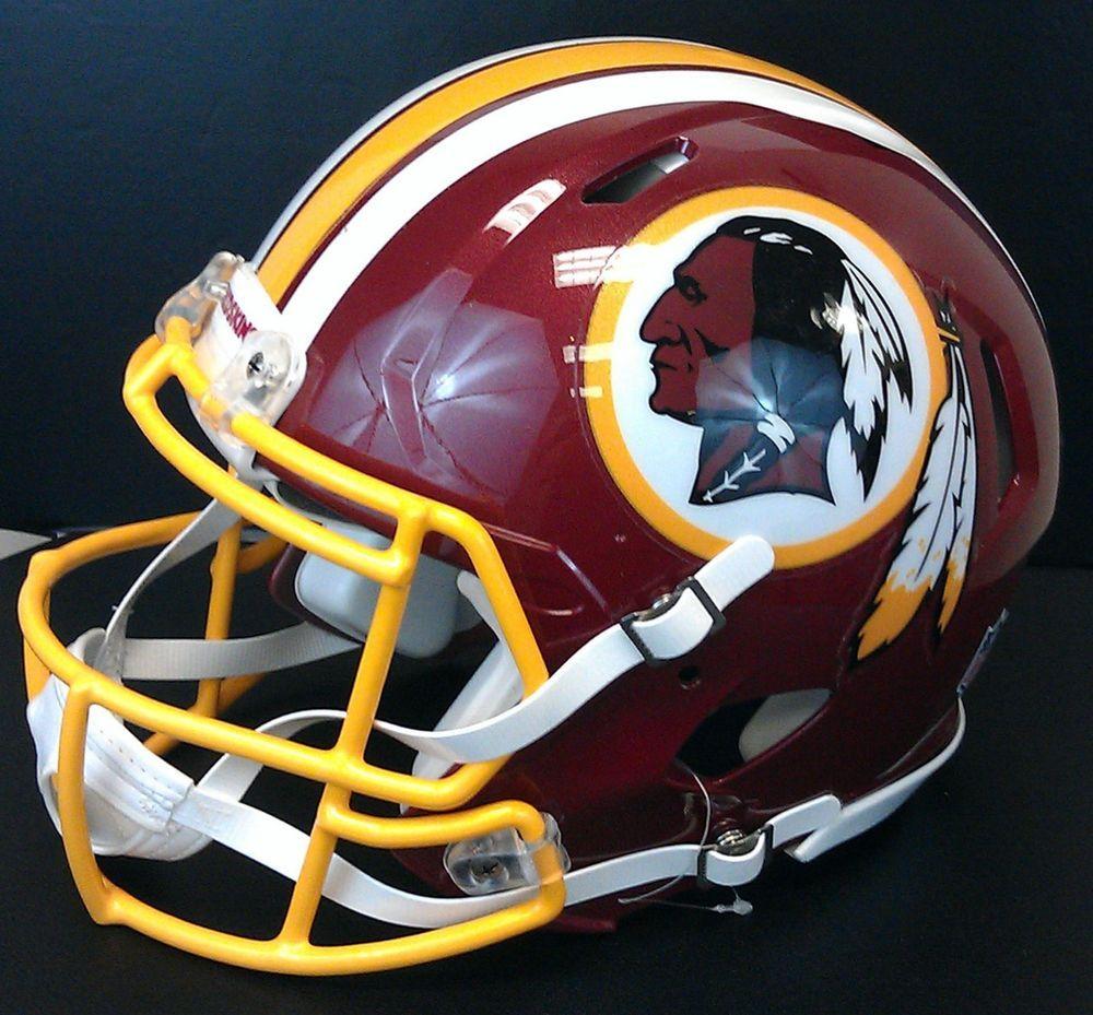 $199.99 Free Ship! Washington Redskins Riddell FullSize Revolution Speed FOOTBALL HELMET NIB* $3 ...