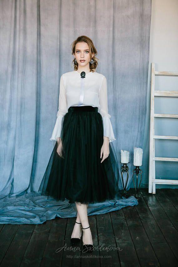 Black and white wedding dress Two piece wedding dress Custom ...