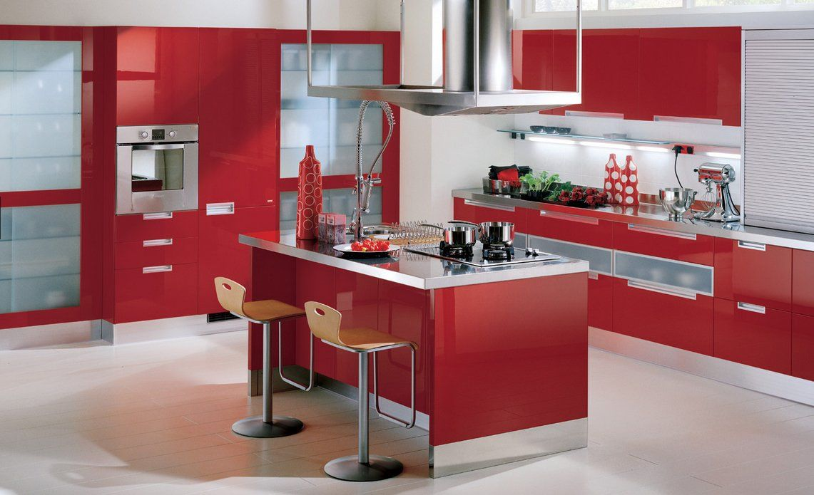 Red kitchens http www i for Decoracion de cocinas integrales