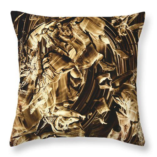 Abstract Throw Pillow featuring the painting Face by Nikolay Malafeev