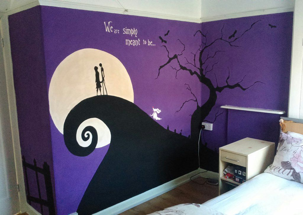 Nightmare Before Christmas Wall Mural Finished By Anasee